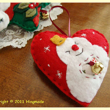 Hand made hanging Cute Christmas tree ornaments pick by hingmade