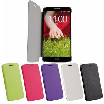 Magnetic Case For LG G2 D802 D803 Ultra Thin Cover Flip Book Mobile Phone Accessories Shell Pouch Fundas For LG G2 Coque Case