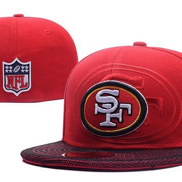 San Francisco 49ers New Era 59FIFTY NFL Football Cap Red-White