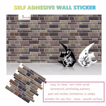 Self Adhesive Mosaic Art Tiles Wall Sticker DIY K