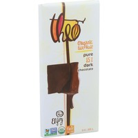 Theo Chocolate Organic 85% Dark Chocolate Bar Unflavored - 3 oz