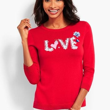 Hand-Sewn Sequined Sweater | Talbots