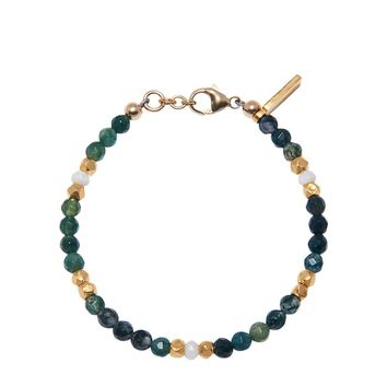 The Capri Collection - Moss Agate and Mother Of Pearl