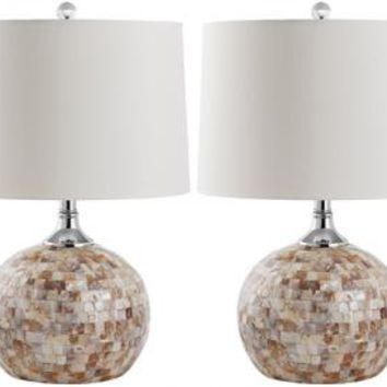 Nikki Shell Table Lamp - Set of 2 - Table Lamps - Lamps - Lighting | HomeDecorators.com