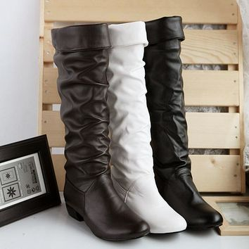 On Sale Hot Deal Winter White Boots [11192769287]