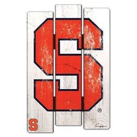 "SYRACUSE ORANGE FENCE WOOD SIGN 11""X17'' BRAND NEW  SHIPPING WINCRAFT"