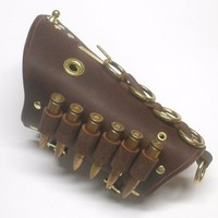 Steampunk Leather Cuff Bandolier by AnotherWorldOutpost on Etsy