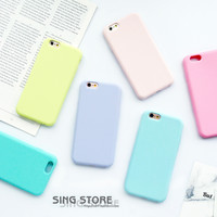 Macarons Color TPU Silicone Frosted Matte Case for iPhone 6 6S Plus 6Plus Soft Back Cover for iPhone 7 7Plus Protection Shell