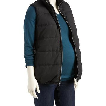Old Navy Maternity Fleece Lined Quilted Vest