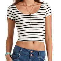 STRIPED COTTON CROP TOP