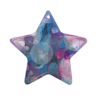 "Marianna Tankelevich ""Dream Houses"" Ceramic Star Ornament"