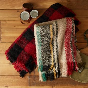 Plaid Throw Blankets | 2 Assorted Colors