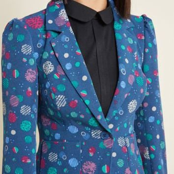 Stargazing Splendor Blazer in Constellations