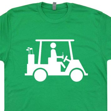 Golf Cart Beer T Shirt Caddyshack T Shirt Funny Golf T Shirt Saying