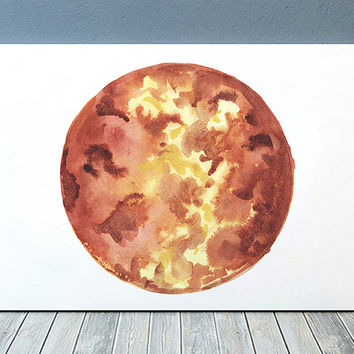 Venus decor Planet poster Watercolor print Space print ACW712