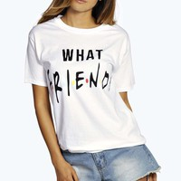 Monica Slogan Oversized Tee