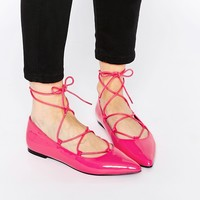 ASOS LYRIC Lace Up Ballet Flats