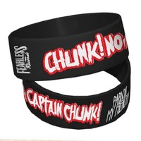 CHUNK! NO CAPTAIN CHUNK! - Pardon My French - Black Rubber Wristband