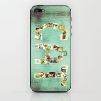COLLAGE LOVE : Cat in a Box iPhone & iPod Skin by M✿nika  Strigel	 | Society6