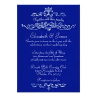 Simple Luxury Navy Blue Wedding Invitations