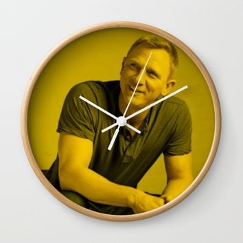 Daniel Craig - Celebrity Wall Clock by Mosaic Art