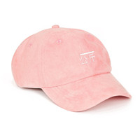 "Pink Suede ""Qilogram"" Dad Hat by RB"