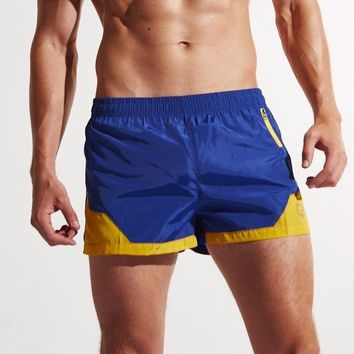 Two-Tone Zipped Swimming Trunks