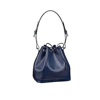 Authentic Louis Vuitton Epi Leather Petit No¨¦ NM Shoulder Bag Handbag Indigo Article: