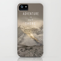 Adventure is out there. At the mountains. iPhone & iPod Case by Guido Montañés