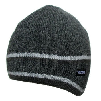 YUTRO Fashion Men's Thinsulate Wool Ski Winter Beanie Hat With Fleece Lining One Size CHARCOAL