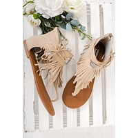 Carmela Not Rated Fringe Sandals (Nude)
