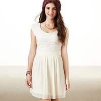 AE Pleated Lace Party Dress