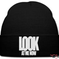 look at me now beanie knit hat