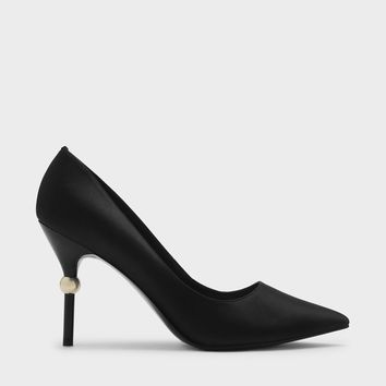 Black Pointed Stiletto Pumps | CHARLES & KEITH