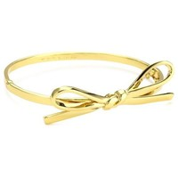 "Amazon.com: Kate Spade New York ""Skinny Mini"" Gold-Tone Bow Bangle Bracelet: Jewelry"