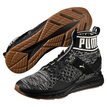 HCXX PUMA IGNITE EVOKNIT HYPERNATURE - Puma Black-Birch-Whisper White