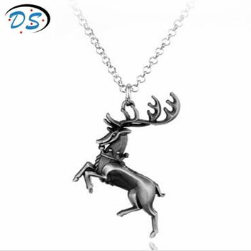 Hot Movie Jewelry Game Of Thrones Crown tiara Deed Pendant Necklace Charm Pendant Necklace Vintage accessories
