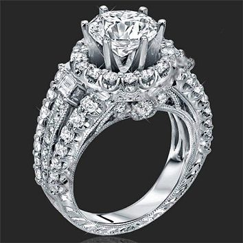 Women's 1.8 CTW Princess Cut 925 Sterling Silver CZ Wedding Engagement Ring