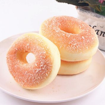 1PCS Simulation Donuts Decor Charms Baby Kids Children Food Pretend Play Kitchen Toys Squishy Bagels Bread Fake Doughnut