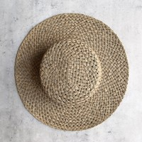 lack of color - sunnydip - Wide Brim Woven Seagrass Hat