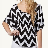 Crochet Chevron Poncho Top