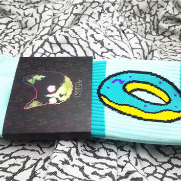 OFWGKTA Golf Wang Wolf Gang Odd Future Donuts Graphic Wool Cotton Long Hip Pop Skateboard Athletic Socks