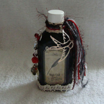 Romantic - magic - apothecary - love potion - Altered art - bottle - collectible - keepsake - love - gift - spell bottle - fantasy