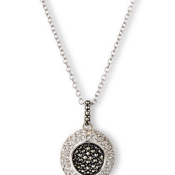 Judith Jack Sterling Silver and Marcasite Pendant Necklace