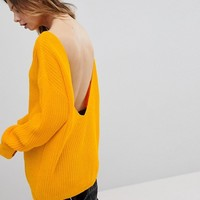 Glamorous Relaxed Jumper With Scoop Back at asos.com