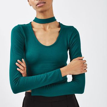 TALL Long Sleeve Choker Top - Sale - Sale & Offers