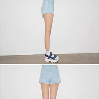 Raw Cut Denim Shorts | STYLENANDA