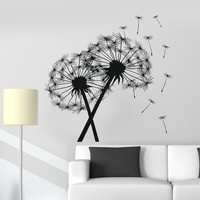 Vinyl Wall Decal Dandelion Florist Flower Shop Home Decor Stickers Unique Gift (ig3371)