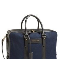 Men's Burberry 'Twill Stoke' Laptop Briefcase