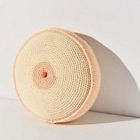 Mikki Yamashiro Handmade Crocheted Boob Throw Pillow | Urban Outfitters
